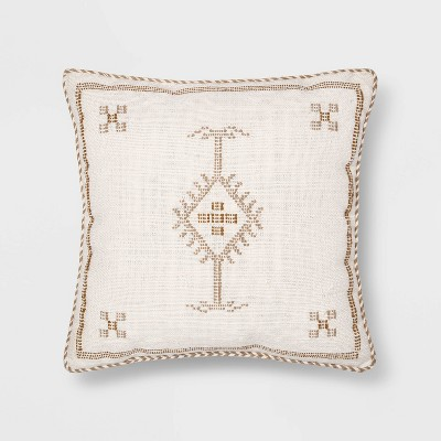 Woven Faux Cactus Silk Square Throw Pillow - Threshold™