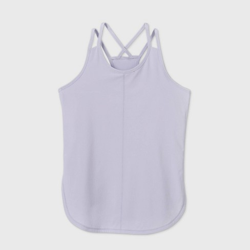 Girls' Double Layer Stretch Woven Tank Top - All in Motion™ - image 1 of 2