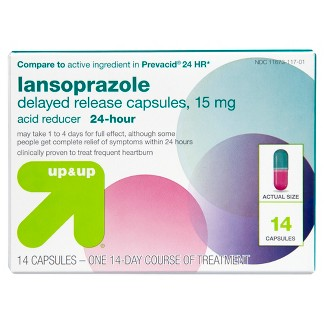 Lansoprazole Delayed Release Acid Reducer Capsules (Compare to active ingredient in Prevacid 24 HR)