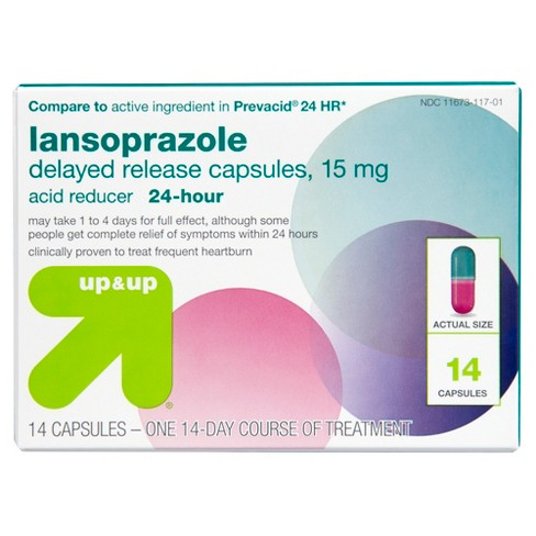 Lansoprazole Delayed Release Acid Reducer Capsules (Compare to active ingredient in Prevacid 24 HR) - image 1 of 4