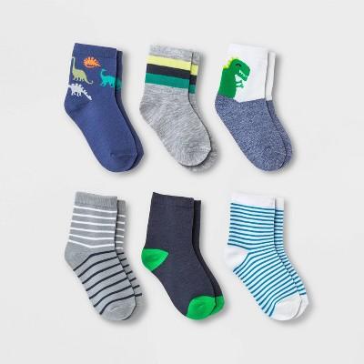 Toddler Boys' 6pk Dino Print Socks - Cat & Jack™