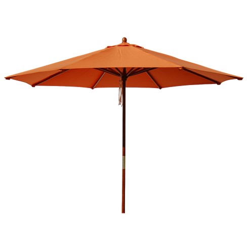 Round Pulley Patio Umbrella - Orange 9' - image 1 of 5