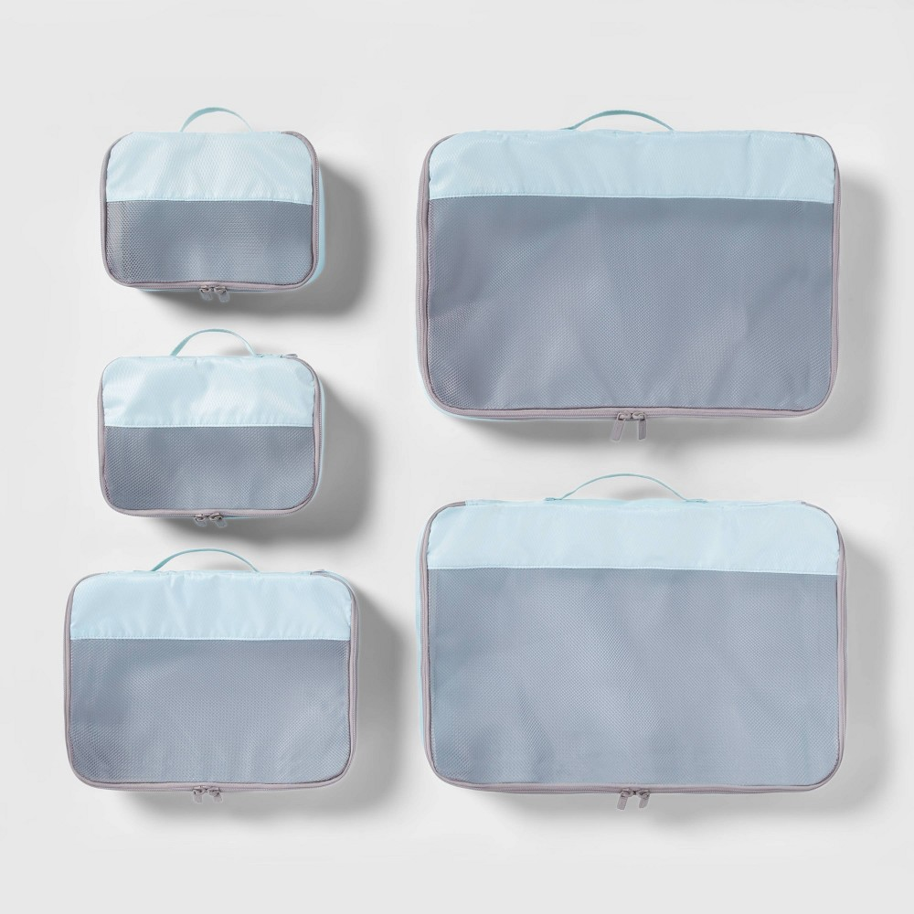 Image of 5pc Packing Cube Set Light Blue - Made By Design
