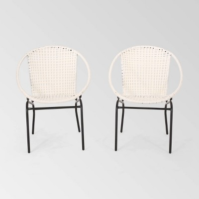 Java 2pk Faux Rattan Modern Club Chairs - Christopher Knight Home