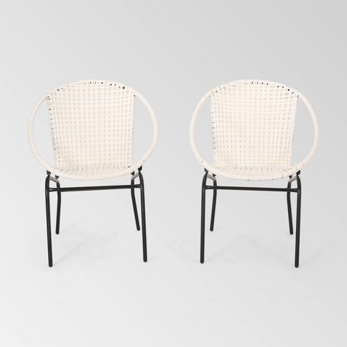 Java 2PK Faux Rattan Modern Club Chair - Christopher Knight Home - image 1 of 4