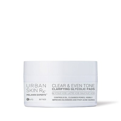Urban Skin Rx Clear & Even Tone Clarifying Glycolic Pads - 30ct