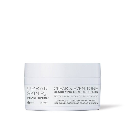 Urban Skin Rx Clear & Even Tone Clarifying Glycolic Pads - 30ct - image 1 of 4