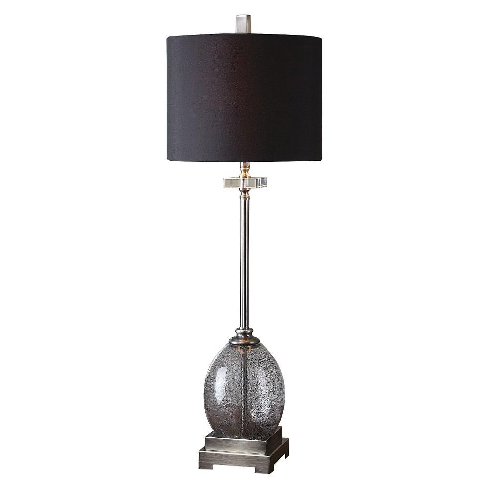 Uttermost Denia Glass Table Lamp (Lamp Only)- Charcoal (Grey)