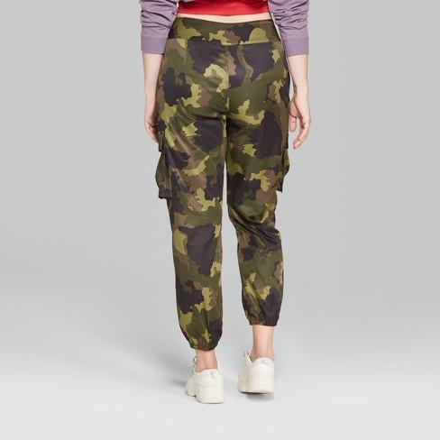Women s Camo Print Cargo Pants - Wild Fable™ Green   Target a1cfa3c384ad