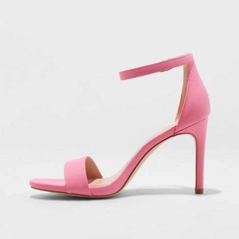 51bc1a70ba1 Women's Myla Wide Width Stiletto Heeled Pump Sandal - A New Day™ Pink 5W