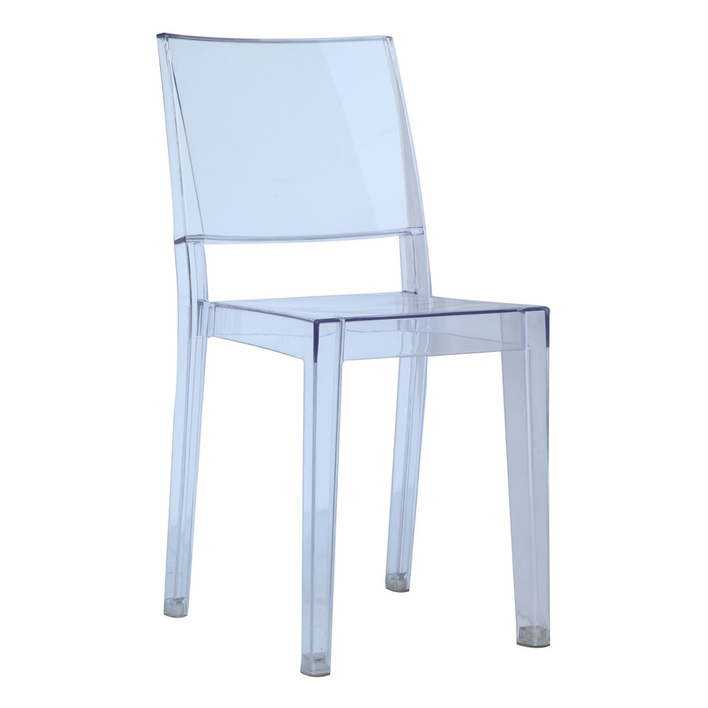 Clear Square Side Dining Chair - Clear - Fine Mod Imports