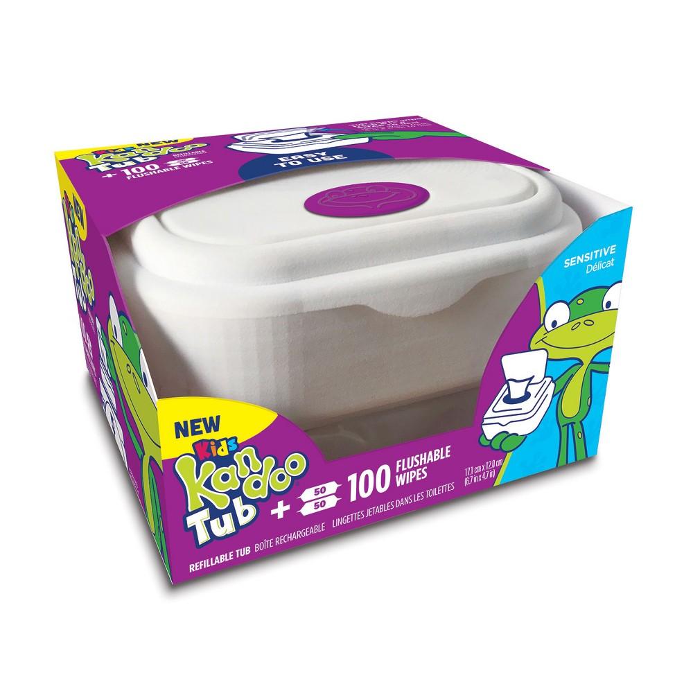 Kandoo Sensitive Flushable Wipes Tub - 100ct