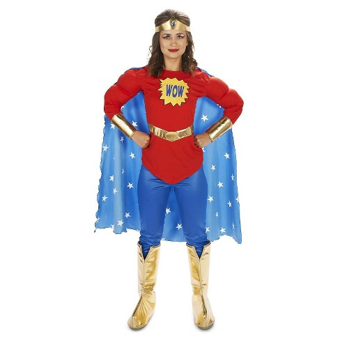afa157f4d8f16d Women's Pop Art Comic Super WOW with Leggings Women's Costume X-Large