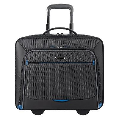 """Solo Active Tech 16"""" Rolling Suitcase - Black"""