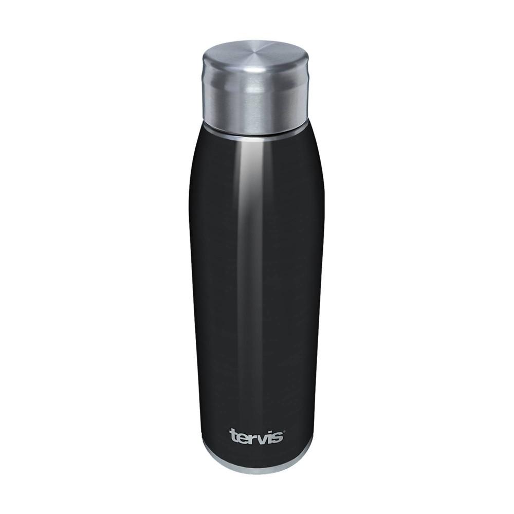 Top Tervis 17oz Stainless Steel Water Bottle - Black Midnight