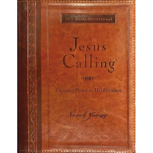 Jesus Calling (Large Print Leathersoft) - (Jesus Calling(r)) by  Sarah Young (Leather_bound) - image 1 of 1