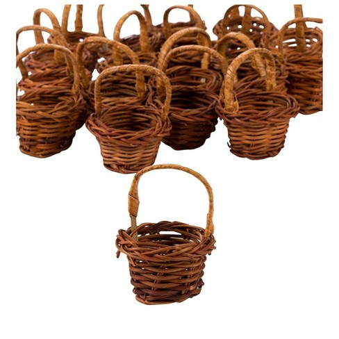 Mini Woven Baskets with Handles (1.75 x 2.7 in, Brown, 24-Pack) - image 1 of 2