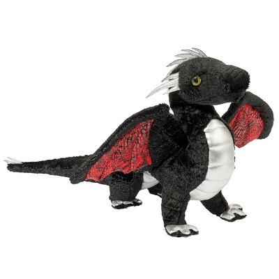 "Douglas Vincent Black Dragon Plush - 17"""