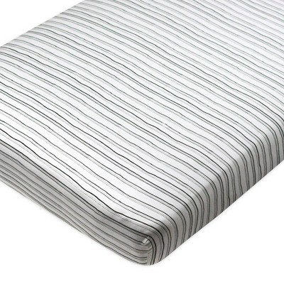 Honest Baby Organic Cotton Fitted Crib Sheet - Sketchy Stripe