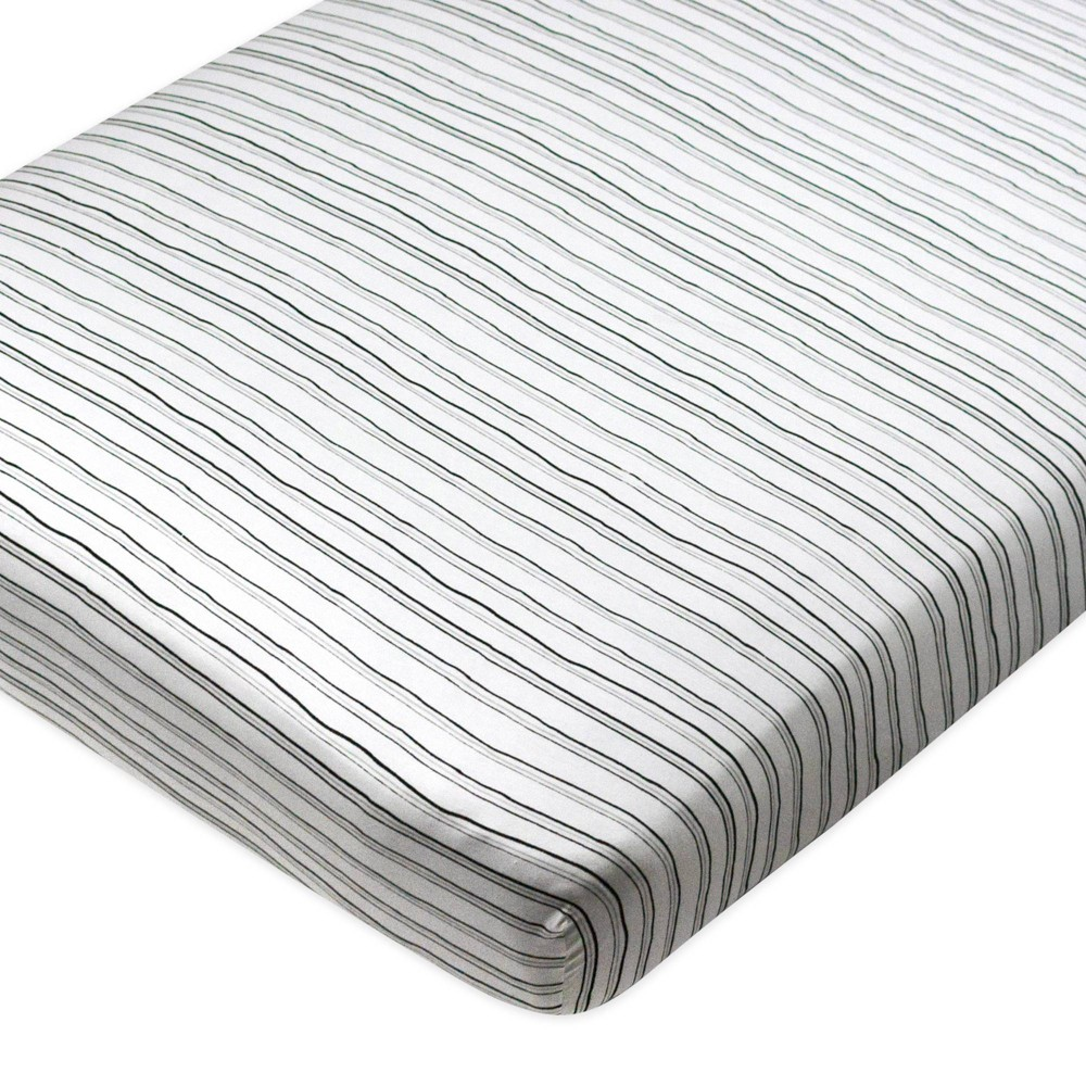 Honest Baby Organic Cotton Fitted Crib Sheet Sketchy Stripe