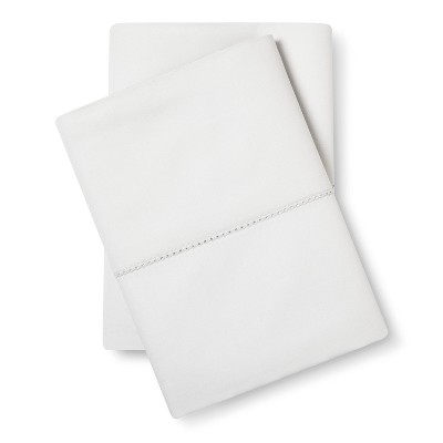 Supima Classic Hemstitch Pillowcase Set (Standard)Silver Springs 700 Thread Count - Fieldcrest™