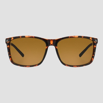 Men's Tortoise Shell Print Surfer Shade Driving Sunglasses - Foster Grant Brown