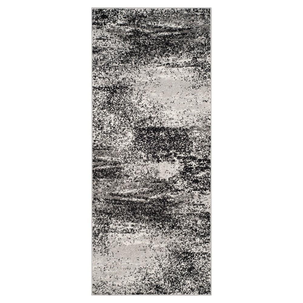 Nykko Accent Rug - Silver/Multi (2'6x6') - Safavieh, Silver/Multi-Colored