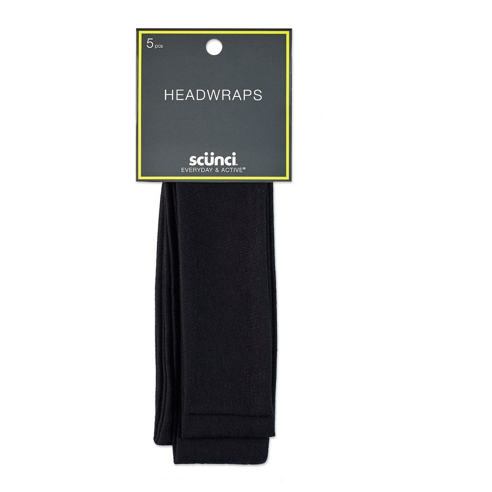 Scunci 4.5cm Interlock Headwraps - 5pk, Black
