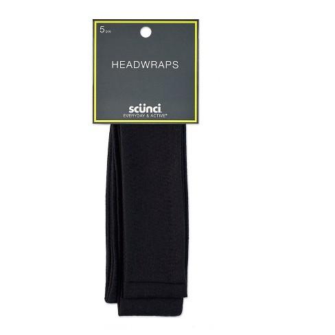 Scunci 4.5cm Interlock Headwraps Black - 5pk - image 1 of 3