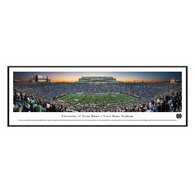 NCAANotre Dame Fighting Irish BlakewayFootball Stadium View Framed Wall Art