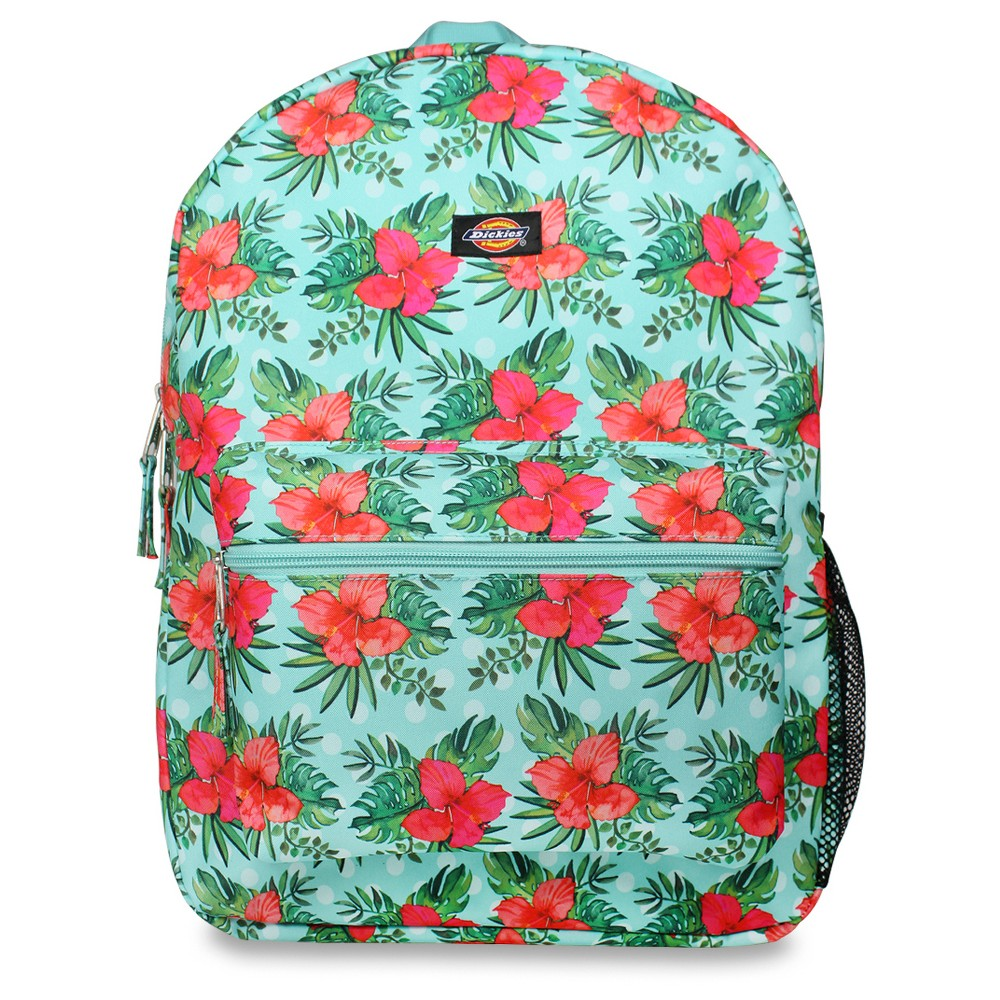 Dickies 17 Printed Tropical Floral Student Backpack - Mint Green