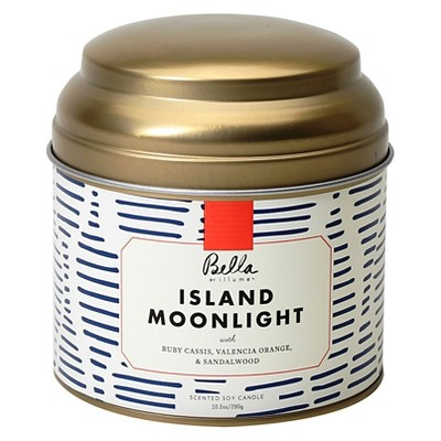 10.2oz Lidded Tin Jar Candle Island Moonlight - Bella by Illume