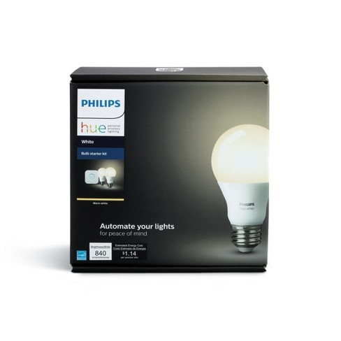 Philips 2pk Hue A19 60W LED With Wireless Starter White - image 1 of 4
