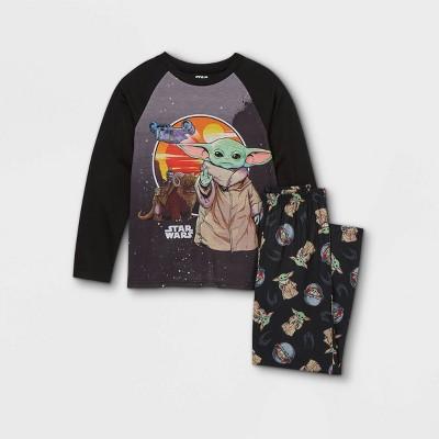 Boys' Star Wars The Mandalorian 2pc Pajama Set - Black