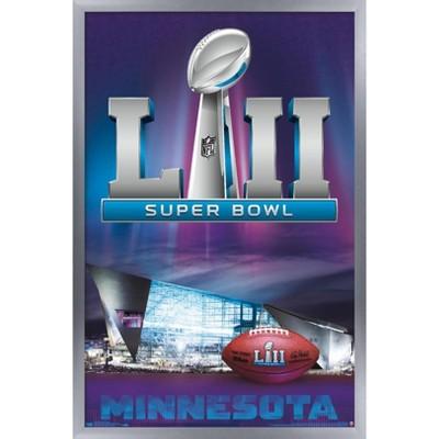 """Trends International NFL Super Bowl LII - Celebration Framed Wall Poster Prints Silver Framed Version 22.375"""" x 34"""""""