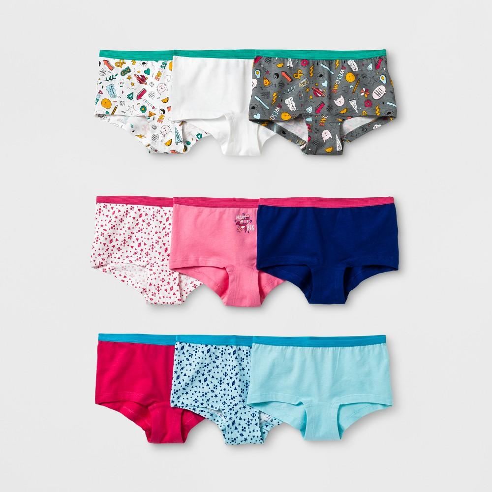 Girls' 9pk Boy Shorts - Cat & Jack Pink 4
