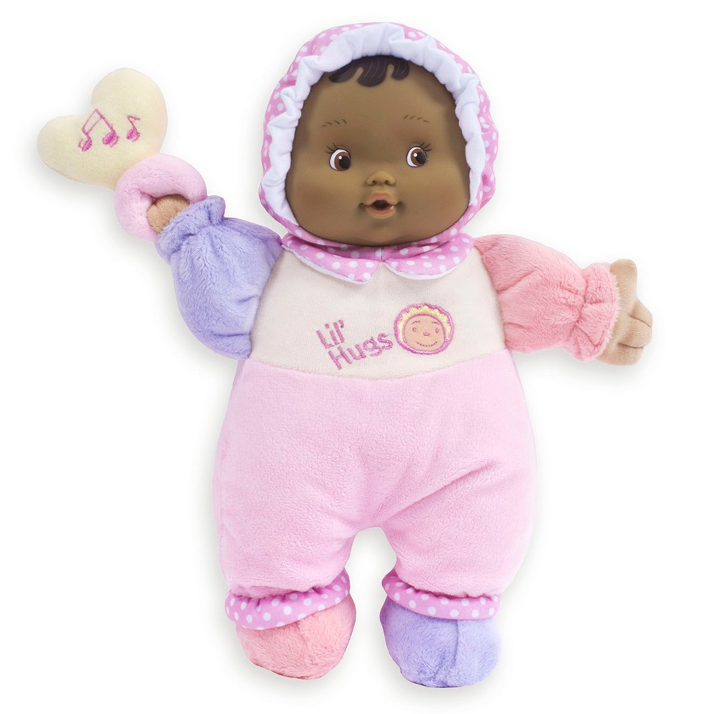 JC Toys Lil' Hugs Hispanic Soft Body Your First Baby Doll Designed by Berenguer - Pink Surprise your little one with a brand new JC Toys doll, appropriate for ages newborn and up. Gender: Female.