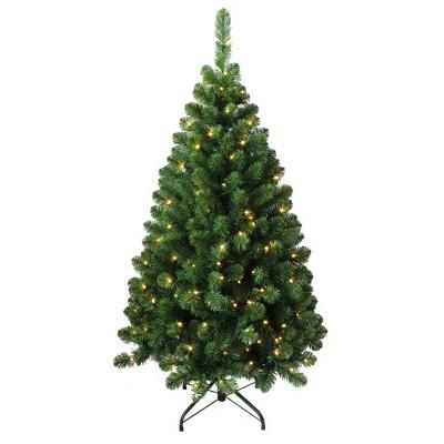 Kurt Adler 4.5' Pre-Lit LED Green Pine Christmas Tree