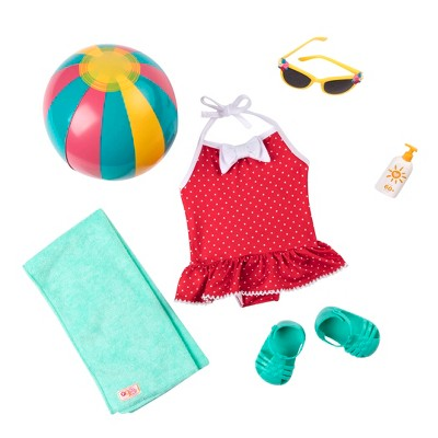 """Our Generation Doll Swimsuit Retro Outfit for 18"""" Dolls - Beach Belle"""