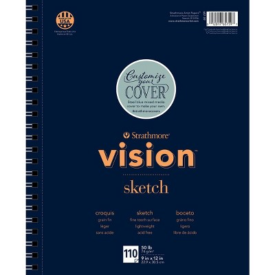 Strathmore Vision Sketch Pad, 9 x 12 Inches, 50 lb, 110 Sheets