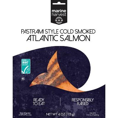 Marine Harvest Pastrami Cold Smoked Salmon - 4oz