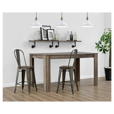 """Set Of 2 24"""" Lio Metal Counter Height Barstools With Wood Seat - Room & Joy : Target"""