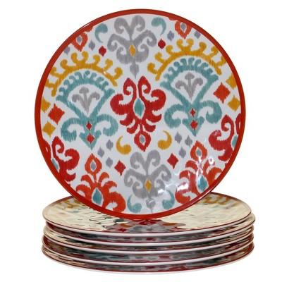 11  6pk Melamine Bali Dinner Plates - Certified International
