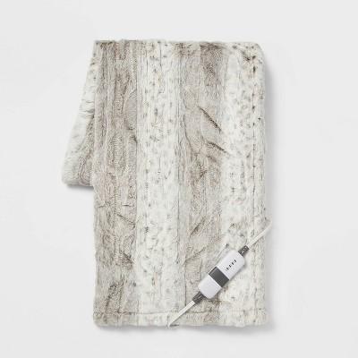 "50""x60"" Electric Diamond Sherpa & Faux Fur Throw Blanket - Threshold™"