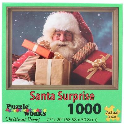 Puzzleworks Santa Surprise 1000 Piece Jigsaw Puzzle