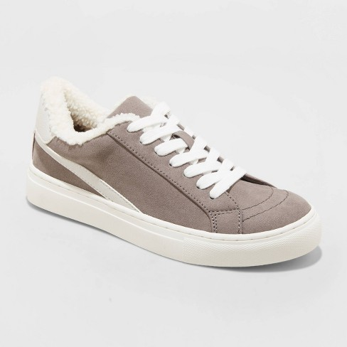 Women's Sophie Faux Sherpa Lined Sneakers - Universal Thread™ Gray - image 1 of 3