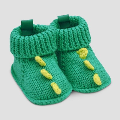 Baby Boys' Dino Slipper - Just One You™ Made by Carter's® Blue/Green NB