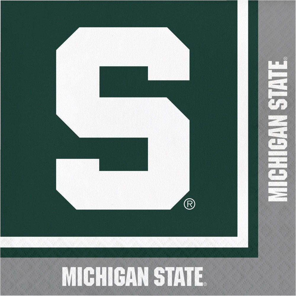 Image of 20ct Michigan State Spartans University Napkins
