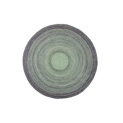 8'x8' Round Frango Jute Area Rug Green/Gray - Anji Mountain