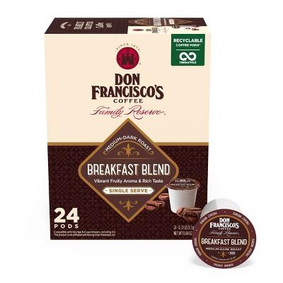 Don Francisco's Breakfast Blend Medium Roast Coffee - Single Serve Pods - 24ct